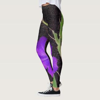 Púrpura mexicana de la petunia leggings