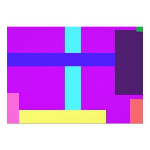 Púrpura minimalista comunicado personal