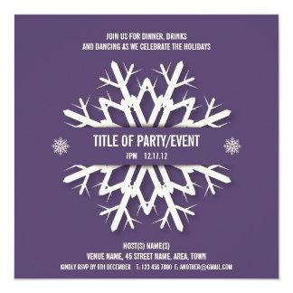 Púrpura moderna de la invitación de la fiesta de