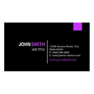 Púrpura negra y violeta moderna superior plantillas de tarjetas de visita