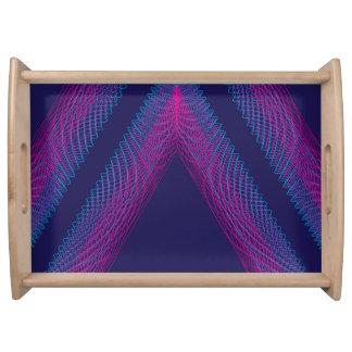 Púrpura ondulada del guilloquis del triángulo bandejas