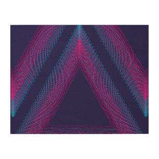 Púrpura ondulada del guilloquis del triángulo impresiones en madera