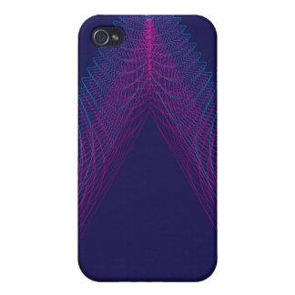 Púrpura ondulada del guilloquis del triángulo iPhone 4 protectores