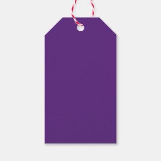 Púrpura oscura etiquetas para regalos