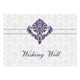 púrpura que desea tarjetas bien tarjetas de visita