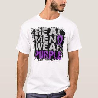 Púrpura real del desgaste de hombres del lupus camiseta