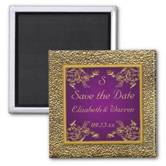 Púrpura real y reserva floral del oro el imán de l