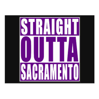 Púrpura recta de Outta Sacramento Postal