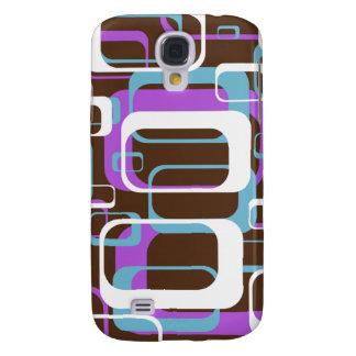 Púrpura retra 3G/3GS de la diversión Samsung Galaxy S4 Cover