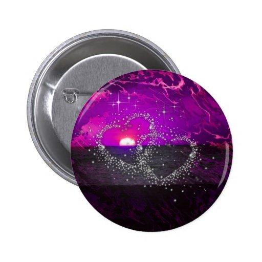 púrpura romántica de la noche pins