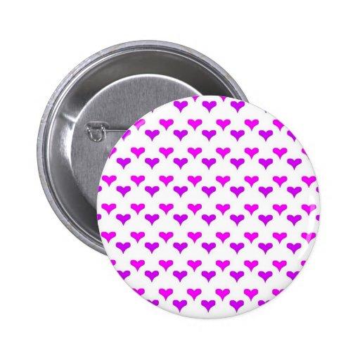 púrpura rosada de los corazones pins