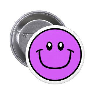 Púrpura sonriente 0003 del botón de la cara