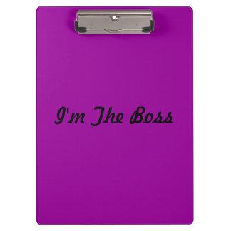 "Púrpura ""soy tablero de Boss"""