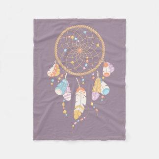 Púrpura tribal de Dreamcatcher Boho Manta Polar