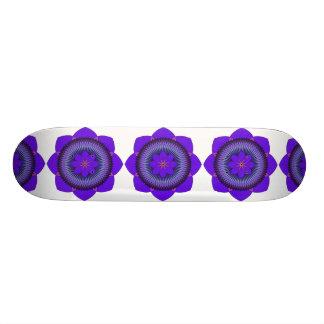 Púrpura tripartita Lotus de 80 pétalos Monopatines Personalizados