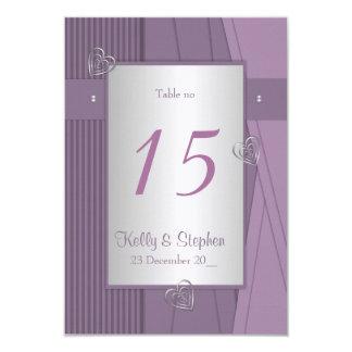 Púrpura, uva violeta y elegante invitación 8,9 x 12,7 cm