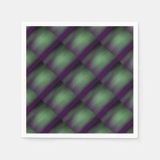 Púrpura verde tejada servilleta desechable