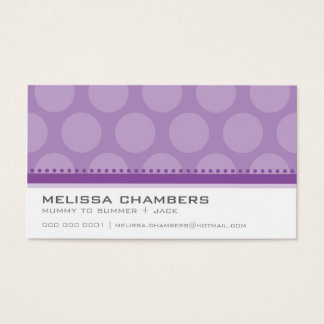 Púrpura violeta del modelo grande del punto de la tarjeta de negocios
