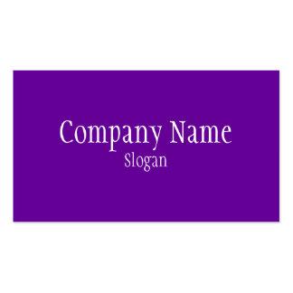 Púrpura violeta sólida tarjetas de visita