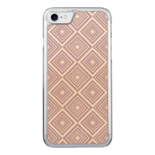 Púrpura y blanco del modelo del diamante funda para iPhone 7 de carved