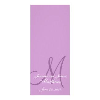 Púrpura y blanco del monograma del programa de la  anuncios personalizados