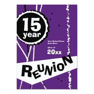 Púrpura y blanco invitación de la reunión de invitación 12,7 x 17,8 cm