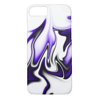 Púrpura y blanco negros funda iPhone 7
