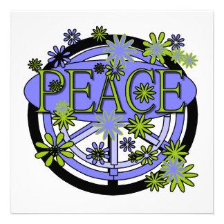Púrpura y camisetas y regalos de la paz de la cal invitacion personalizada