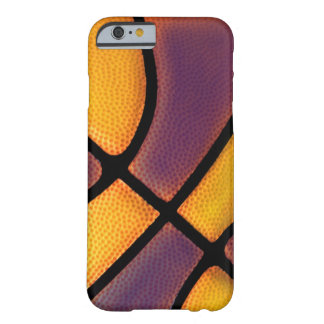 púrpura y caso del baloncesto del oro funda de iPhone 6 barely there