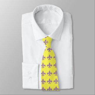 Púrpura y corbata de la flor de lis del oro