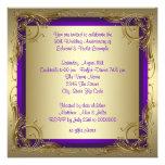 Púrpura y fiesta de aniversario del boda del oro 5