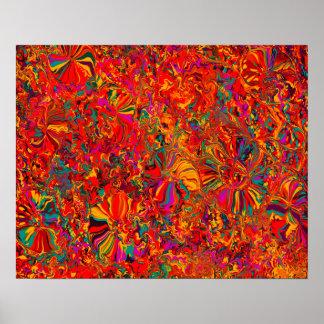 Púrpura y fondo abstractos coloridos de Brown Póster
