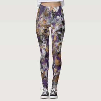 Púrpura y galaxia del oro leggings