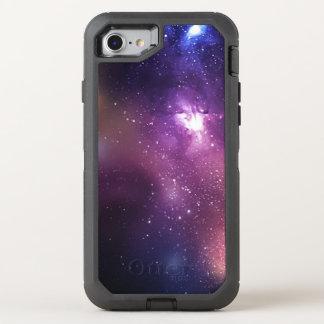 Púrpura y galaxia y estrellas de la marina de funda OtterBox defender para iPhone 7