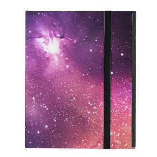 Púrpura y galaxia y estrellas de la marina de funda para iPad