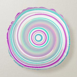 Púrpura y giro del trullo - almohada redonda del cojín redondo