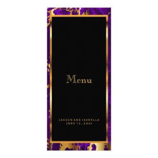 Púrpura y mármol del oro - menú