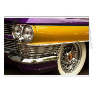 Púrpura y oro tarjeta de felicitación