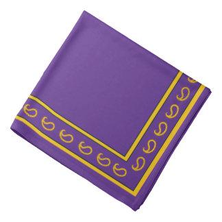 Púrpura y pañuelo de Paisley del oro