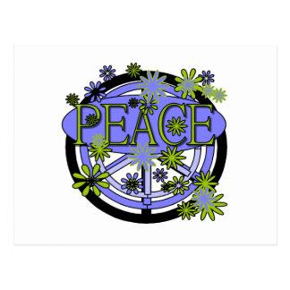 Púrpura y paz de la cal postal