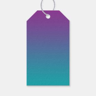 Púrpura y trullo Ombre Etiquetas Para Regalos