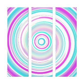 Púrpura y trullo - tríptico del arte abstracto