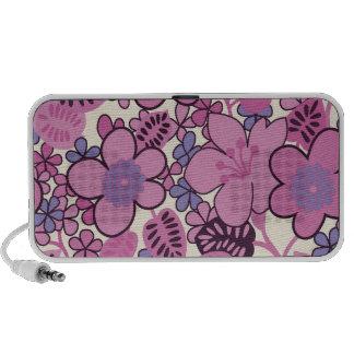 púrpuras tropicales maravillosas de los rosas de l mp3 altavoces