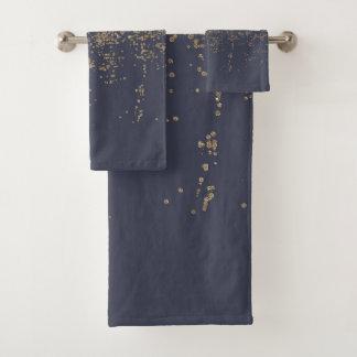 Purpurina brillante Ombre del oro de los azules