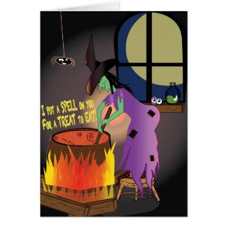 Puse un encanto en usted tarjeta de Halloween de