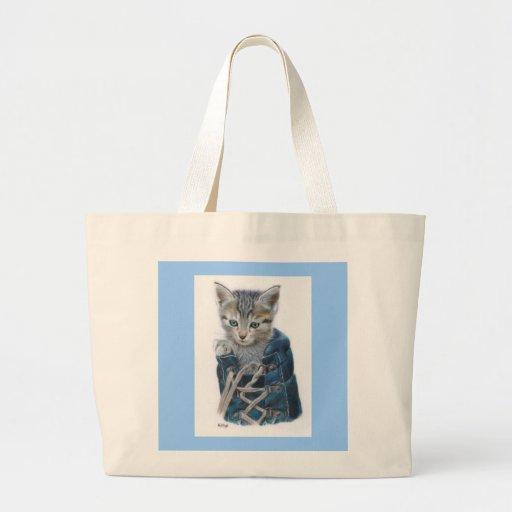 Puss en bota bolsa lienzo