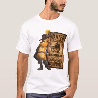 Puss querido en las botas (carbón de leña) camiseta
