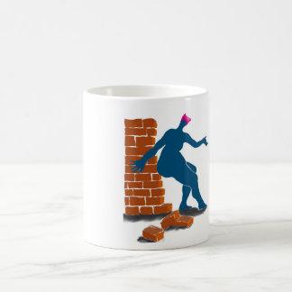 Pussyhats contra las paredes taza de café