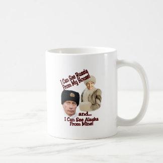 Putin y Palin Taza De Café