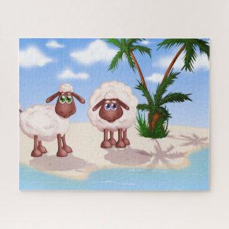 Puzzle 2 ovejas en una isla